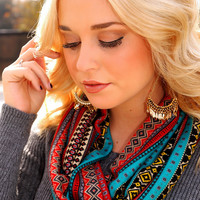 Sleigh Ride Scarf: Red/Multi