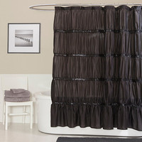 Twinkle 72-Inch x 72-Inch Shower Curtain in Black