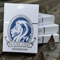 White Lions Series B Playing Cards Rare Deck by David Blaine NEW 2012
