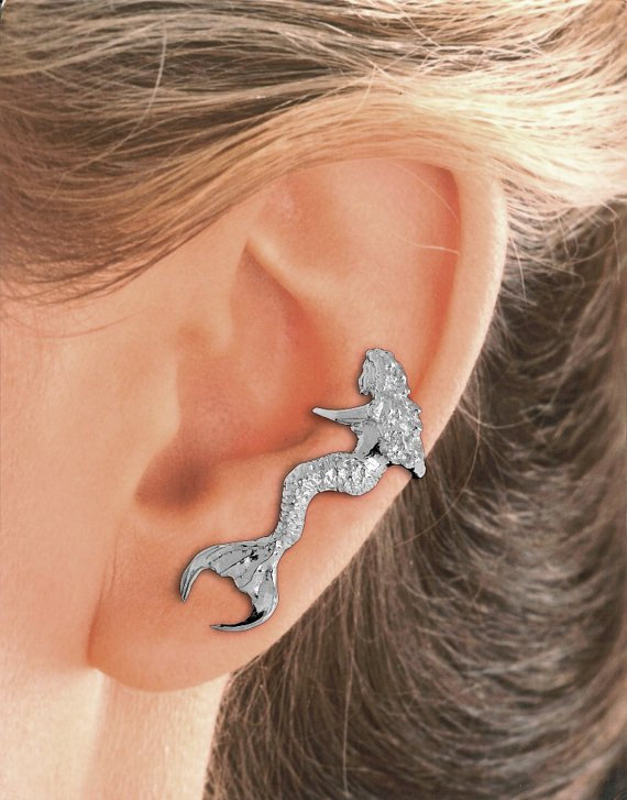Mermaid Ear Cuff - Left Ear Only