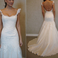 Wedding Dress Custom made Free Shipping by lovelyvintagejewels
