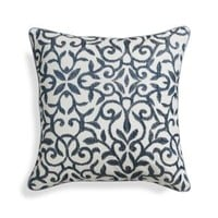 "Catania Indigo 16"" Pillow with Feather Insert"