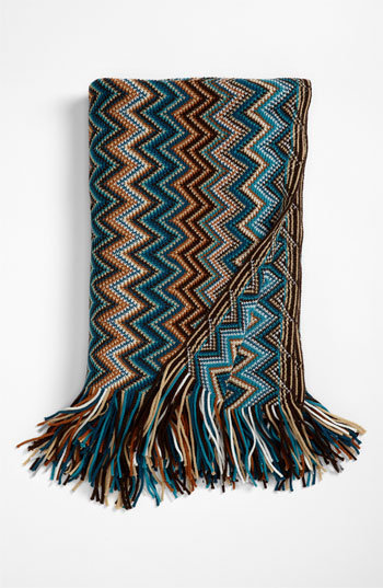 Kennebunk Home 'Caitlin' Chevron Knit Throw | Nordstrom