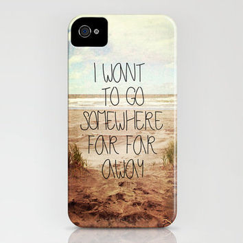 I want to go somewhere far far away iPhone Case by Sylvia Cook Photography | Society6