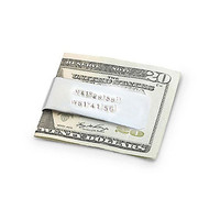 Money Clip Latitude Longitude Men Father Gift Keepsake Accessory Husband Boyfriend Wedding Birthday