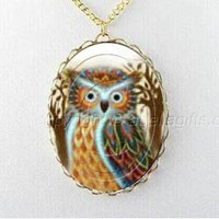 bird necklace,owl necklace, owl necklace