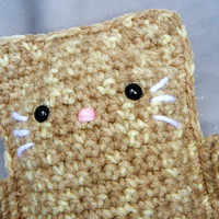 Amigurumi Crochet Kitty Tan Brown Kawaii Kitteh