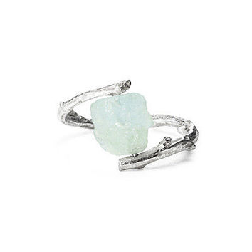 AQUAMARINE BRANCH RING