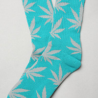 The Plant Life Socks in Teal &amp; Grey