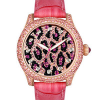 Betsey Johnson Leopard Dial Watch | Nordstrom