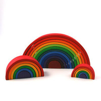 wooden rainbows