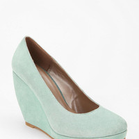 Cooperative Suede Platform Wedge