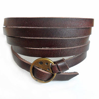 jewelry bangle leather bracelet buckle bracelet men bracelet women bracelet made of brown leather and bronze buckle wrist bracelet  SH-0702