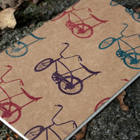 Autumn Bike Ride large moleskine (lined) retro schwinn bicycle notebook gift