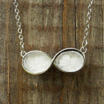 Rock-Salt Infinity Necklace [3147] - $12.00 : Vintage Inspired Clothing & Affordable Summer Dresses, deloom | Modern. Vintage. Crafted.