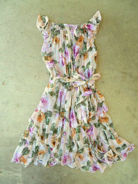 Blooming Rose Garden Dress [3007] - $34.00 : Vintage Inspired Clothing &amp; Affordable Summer Dresses, deloom | Modern. Vintage. Crafted.