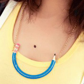 Colorful Pencil Fashion Necklace  | LilyFair Jewelry