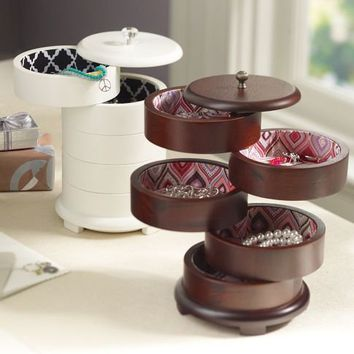 Chloe Swivel Jewelry Storage