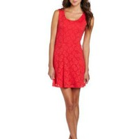 Amazon.com: Trixxi Juniors Cap Sleeve Lace Dress: Clothing