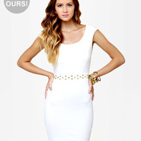 Cute Ivory Dress - Studded Dress - White Dress