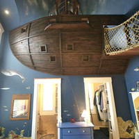 The Pirate Ship Bedroom by Kuhl Design Build | Design Milk
