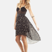 Star Printed Hi Low Skirt | MessesOfDresses.com