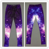 Purple Galaxy Print Leggings from CherryKreations21