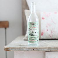 Vintage French Bottle with Antique Label