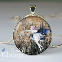 art necklace pendant,art pendant charms,Fairy resin pendant- D0231CP