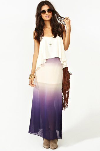 Ombre Maxi Skirt