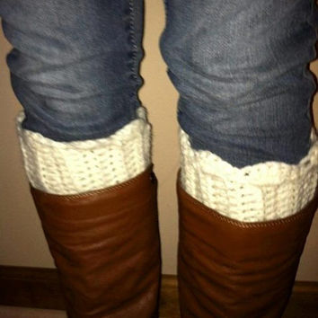 Scallop Top, Ribbed, boot cuffs, custom made, fall fashion, boot toppers, leg warmer