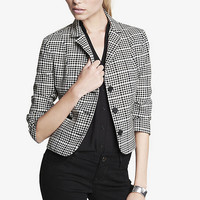 20 INCH GRAPHIC PLAID JACKET from EXPRESS