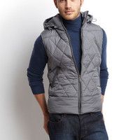 ideeli | X-RAY JEANS Quilted Vest with Detachable Hood