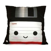 Black Floppy Disk Deluxe Pillow by mymimi on Etsy FREE SHIPPING
