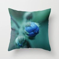 Small bud. Throw Pillow by Mary Berg