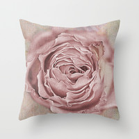 Openwork rose(5). Throw Pillow by Mary Berg