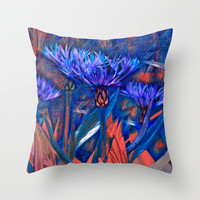 Floral abstract(13). Throw Pillow by Mary Berg