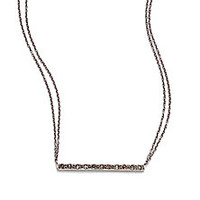 Chan Luu - Champagne Diamond & Sterling Silver Bar Necklace - Saks Fifth Avenue Mobile