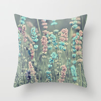 Summer dreams. Throw Pillow by Mary Berg