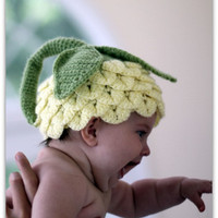 NEW - Crocodile Stitch Flower Hat (5 sizes) - Crochet Pattern - Permission to sell finished items.