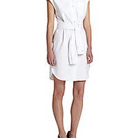 Moschino - Belted Cap-Sleeve Shirtdress - Saks Fifth Avenue Mobile