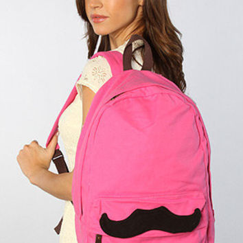 The Mustache Backpack in Pink