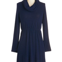 ModCloth Short Length Long Sleeve Sweater Dress Style Satisfaction Dress