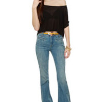 Dittos Amy Light Wash High-Rise Flare Jeans
