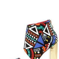 Craze the Roof Multi Print Cutout Booties