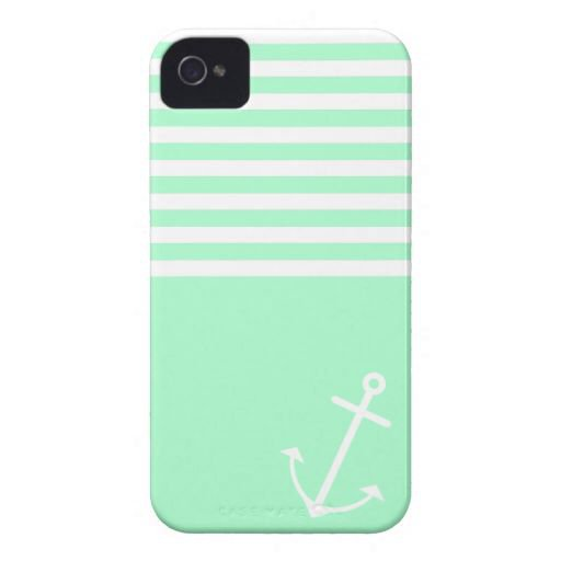 Mint Nautical Iphone 4 Cases from Zazzle.com