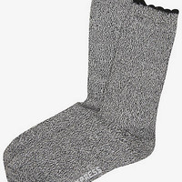 SUPER SOFT SCALLOPED CREW SOCK from EXPRESS