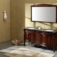 Fresca Bath Laberge Antique Double Sink Bathroom Vanity with Countertop - FVN6398BB / FVN6398BG / FVN6398TR - Bathroom Vanities - Bathroom Fixtures - Bed & Bath