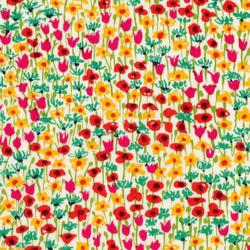 Liberty Tana Lawn Fabric - Liberty Japan - Cotton Print Scrap, Alice Loveday - Natural Floral Colorful Design - Quilt, Patchwork - NT15SS23