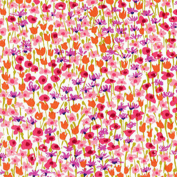 Liberty Tana Lawn Fabric - Liberty Japan - Cotton Print Scrap, Alice Loveday - Colorful Floral - Quilting Fabric, Patchwork - NT15SS25